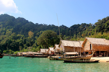 Mogan Village on the Surin Islands, an archipelago of five islands of the Andaman Sea, is one of the most famous dive sites in the world photo