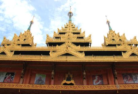 wiwekaram: Wat Wang Wiwekaram or Wat Mon, built around its former head monk, Luang Phaw Uttama, a symbol of Sangklaburi, Kanchanaburi, Thailand
