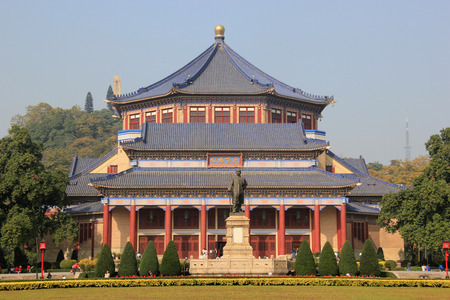 Sun Yat-Sen Memorial Hall, designed by Lu Yanzhi and built with funds raised by local and overseas Chinese people in memory of Sun Yat-Sen,  in Guangzhou, China