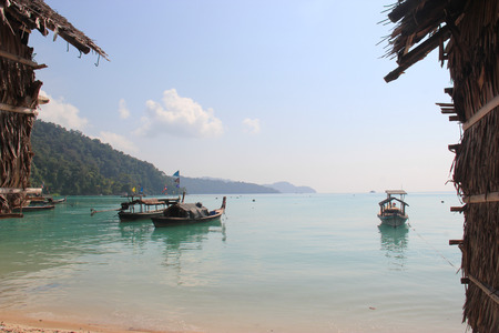 Sea View from Mogan Village at the Surin Islands, an archipelago of five islands of the Andaman Sea, is one of the most famous dive sites in the world photo