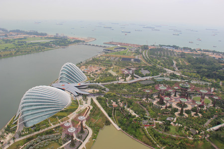 conservatories: Gardens by the Bay, an integral part of a strategy by the Singapore government to transform Singapore from a  Garden City  to a  City in a Garden