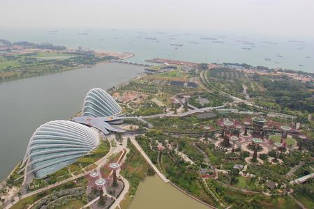 garden city: Gardens by the Bay, una parte integral de una estrategia del gobierno de Singapur para transformar Singapur desde Garden City a una ciudad en un jard�n Foto de archivo