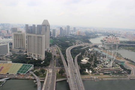 Skyview of the Singapore Flyer, once the world photo