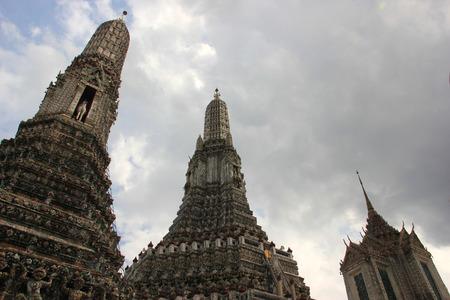 best known: Wat Arun Ratchawararam Ratchawaramahawihan or Wat Arun, one of the best known landmarks in Bangkok, Thailand