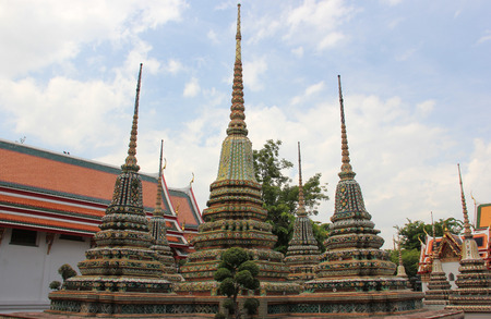 Wat Pho or Wat Phra Chettuphon Wimon Mangkhlaram Ratchaworamahawihan or Temple of the Reclining Buddha, one of famous landmarks in Bangkok, Thailand, well known as the birthplace of traditional Thai massage photo