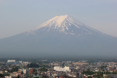 kawaguchi ko: Fuji Mountain, UNESCO World Heritage Site, is one of the most famous tourist destinations in Japan Stock Photo