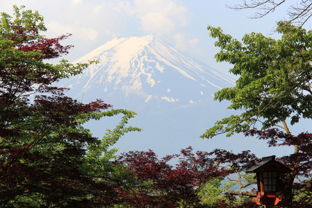 kawaguchi ko: Fuji Mountain is one of the most famous tourist destinations in Japan Stock Photo