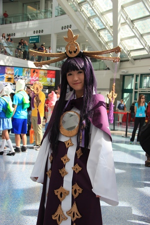 Cosplay or Custume Play, a performance art in which participants called cosplayers wear costumes and fashion accessories to represent a specific character or idea that is usually identified with a unique name.