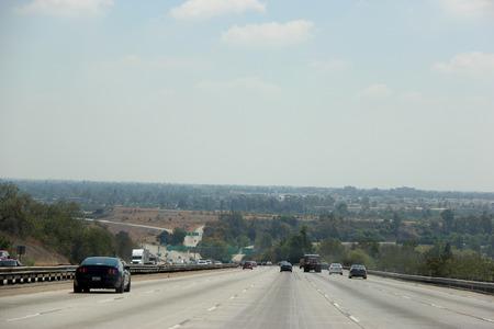 express lane: Traffic on Freeway in Southern California Editorial