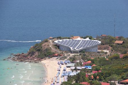 Solar Cell at Larn Island, Pattaya, Thailand photo