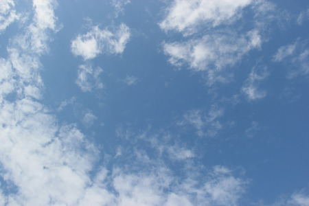 skyscape: Beautiful Clouds on Bright Blue Sky Stock Photo