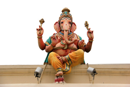 Ganesha Statue at the Sri Mariamman Temple, the oldest Hindu temple in Singapore