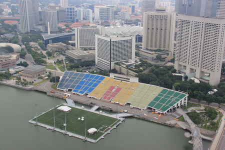 conservatories: Skyview of the Float at Marina Bay, the world