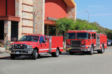Fire Truck and Paramedic Truck rush to help people at the scene.