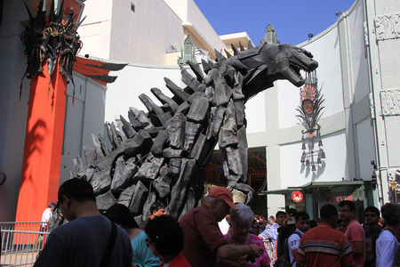 Los Angeles, California, USA - May 19, 2014: TCL Chinese Theater, a famous cinema on the historic Hollywood Walk of Fame on Hollywood Boulevard, Los Angeles, California