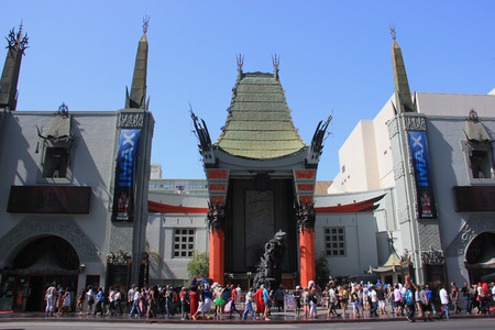 Los Angeles, California, USA - May 19, 2014: TCL Chinese Theater, a famous cinema on the historic Hollywood Walk of Fame on Hollywood Boulevard, Los Angeles, California Editorial