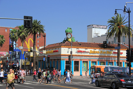 Los Angeles, California - May 19, 2014: Hollywood and Highland Intersection with Ripley Editorial