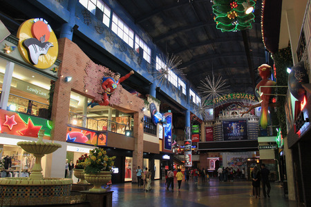 Genting Highlands, Malaysia - April 3, 2013: Genting Highlands or Resorts World Genting is a famous hill resort of Malaysia. It is known as the City of Entertainment comprising of indoor and outdoor theme parks, legal land based casino, five hotels, four