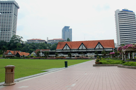 has been: Kuala Lumper, Malaysia - April 5, 2013: The Royal Selangor Club, found in 1884 by the British who ruled Malaya, is a social club located next to Merdeka Square in Kuala Lumper, Malaysia. The club has been the host for many sport events especially cricket.