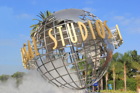 hollywood   california: Los Angeles, California, USA - October 10, 2014: Universal Studios Hollywood, the Entertainment Capital of LA, is the first film studio and theme park of Universal Studios Theme Parks across the world. It consists of 7 rides, 5 shows, 2 performance areas