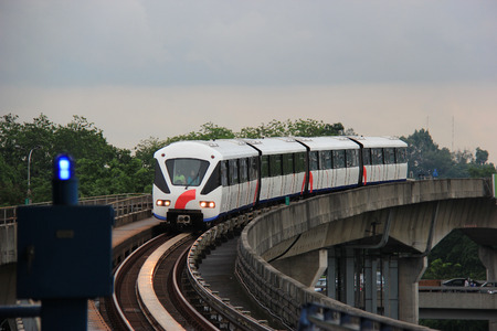 Rapid KL  provides monorail service network for 56 kilometers long with 60 stations in Kuala Lumpur, Malaysia. Editorial