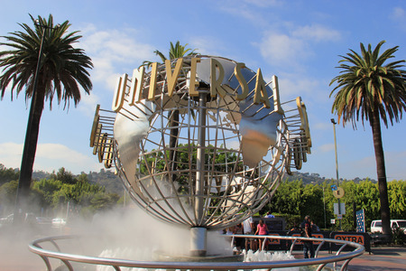 universal: Los Angeles, California, USA - October 10, 2014: Universal Studios Hollywood, the Entertainment Capital of LA, is the first film studio and theme park of Universal Studios Theme Parks across the world. It consists of 7 rides, 5 shows, 2 performance areas