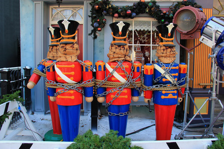hollywood christmas: Colorful Wooden Nutcracker Decoration for Christmas and Halloween