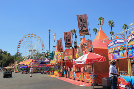 Pomona, California, USA - September 15, 2014: The Los Angeles County Fair is one of the fourth largest fair in the United States. It, linking California