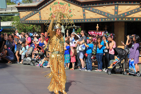 Anaheim, California, USA - May 30, 2014: Disney Parade at Disneyland, California. Editorial