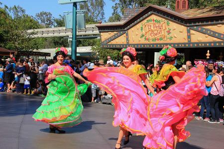 Anaheim, California, USA - May 30, 2014: Disney Parade at Disneyland, California.