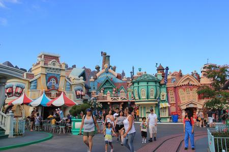 Anaheim, California, USA - May 30, 2014: Mickeys Toontown, based on a 1930s cartoon aesthetic, is home to Disneys most popular cartoon characters at Disneyland.