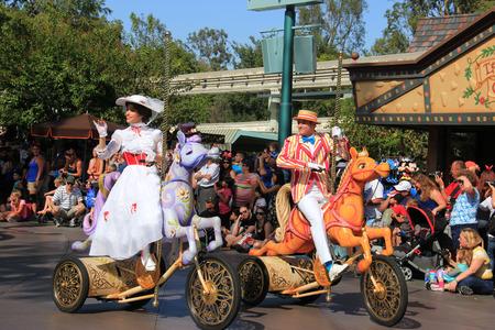 Anaheim, California, USA - May 30, 2014: Beautiful Disney Parade at Disneyland