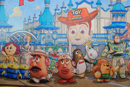 Tokyo, Japan - May 29, 2013: Toy Story Mania is a new interactive 4-D theme park attraction located at the American Waterfront, Tokyo DisneySea.
