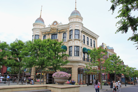 Tokyo, Japan - May 29, 2013: McDuck Department Store owned by the richest duck in the world , Scrooge McDuck, is located at America Waterfront of Tokyo DisneySea.
