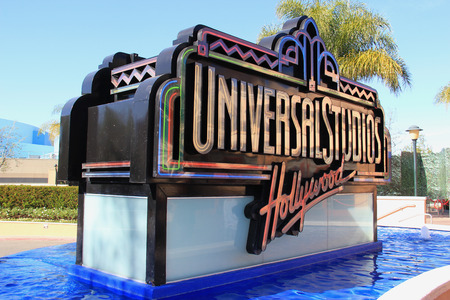 theme parks: Los Angeles, California, USA - March 12, 2015: Universal Studios Hollywood, the Entertainment Capital of LA, is the first film studio and theme park of Universal Studios Theme Parks across the world. It consists of 7 rides, 5 shows, 2 performance areas an