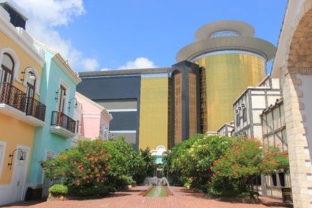 east meets west: Beautiful Portuguese Style Buildings at Macau Fisherman