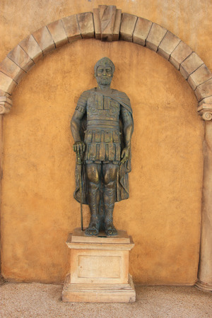 The Roman Style Statue is decorated at the East Meets West Section, where oriental traditions and western design are mixed together.
