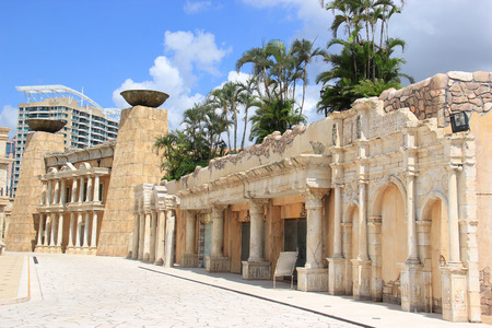 east meets west: Roman Style Architecture at Macau Fisherman