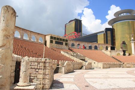 east meets west: Macau - May 31, 2013: Roman Amphitheatre at Macau Fisherman