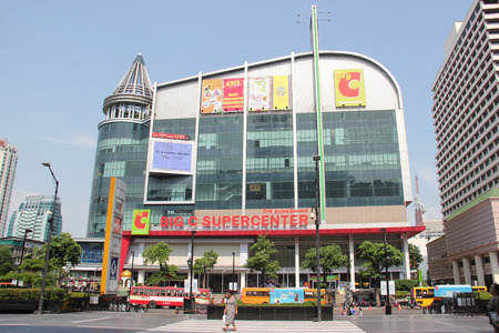 retailer: Bangkok Thailand  April 16 2015: Big C Supercenter is a grocery and general merchandising retailer headquartered in Bangkok Thailand. Editorial