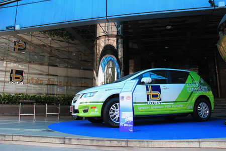public company: Bangkok Thailand  April 30 2015: The electrified transportation scheme comprising zeroemission pure electric buses and passenger cars is launched for the first time in Thailand by Loxley Public Company Limited.