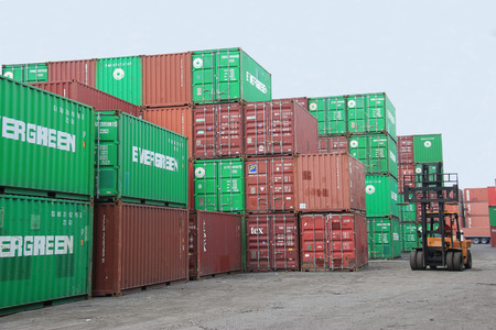 tonnes: Bangkok Thailand  April 30 2015: Bangkok Port is an international port located on the Chao Phraya River in Bangkok. It is primarily a cargo port though its inland location limits access to ships of 12000 deadweight tonnes of less. Editorial