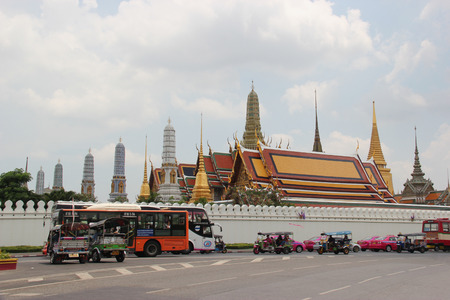 potent: Bangkok, Thailand - May 8, 2015: Emerald Buddha Temple is the most sacred Buddhist temple, a potent religion-political symbol and the palladium of Thai society.