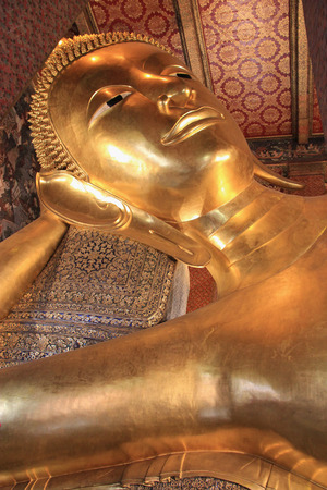 classed: Reclining Buddha at Wat Pho, one of the six temples classed as the highest grade of the first class Royal temples in Thailand. Stock Photo