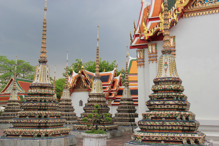 classed: The Temple of Reclining Buddha or Wat Pho is one of the six temples classed as the highest grade of the first class Royal temples in Thailand. Stock Photo