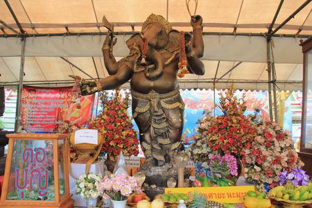 Bangkok, Thailand - May 8, 2015: Ganesha Statue, one of the most worshipped deities in the Hindu Pantheon, at Temple of Dawn, Bangkok, Thailand.