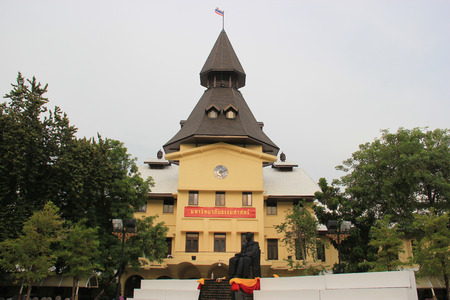 architectural studies: Bangkok, Thailand - May 8, 2015: Thammasat University is Thailands second oldest institute of higher education. It was officially established to be the national university of Thailand on June 27, 1934.