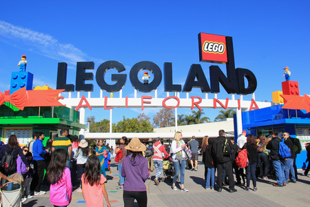 carlsbad: Carlsbad, California, USA - December 27, 2014: Legoland California, a theme park and miniature park, is the third Legoland Park to open and the first Legoland outside Europe.