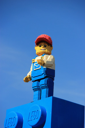 Carlsbad, California, USA - December 27, 2014: Legoland California, a theme park and miniature park, is the third Legoland Park to open and the first Legoland outside Europe.