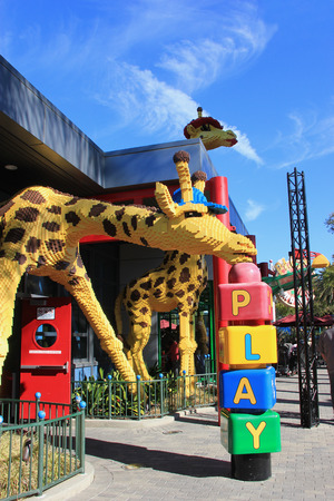 industrial park: Carlsbad, California, USA - December 27, 2014: Legoland California, a theme park and miniature park, is the third Legoland Park to open and the first Legoland outside Europe.